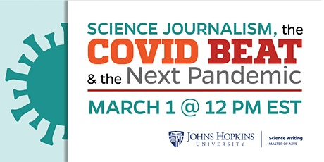 Science Journalism, the COVID Beat, and the Next Pandemic tickets