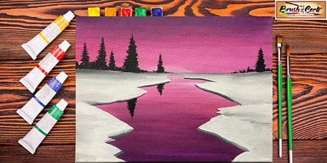 Snowy Sunset Virtual Paint Party (All Ages 6+ Welcome) tickets