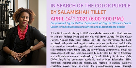 In Search of the Color Purple with Salamishah Tillet tickets