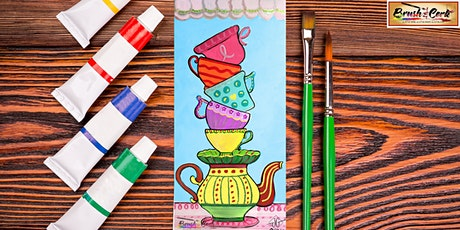 Tipsy Tea Cups Virtual Paint Party tickets
