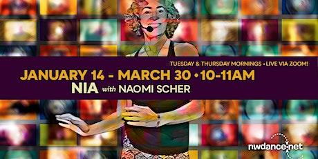 Nia with Naomi Scher - March 2021 tickets