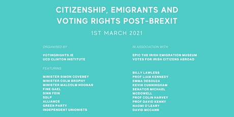 Citizenship, Emigrants and Voting Rights Post-Brexit tickets