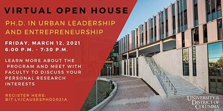 UDC Ph.D. in Urban Leadership and Entrepreneurship Open House tickets