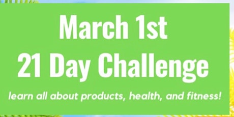 March 21Day Challenge Coaches Registration tickets