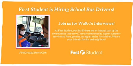 Join First Student Hodgkins for Walk-In Interviews! tickets