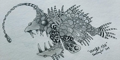 """Zengler"" Fish - A Zentangle® inspired illustration tickets"