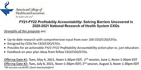 ACHE: FY21-FY22 Profitability Accountability tickets