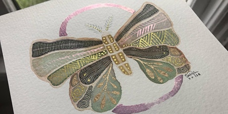 """Zentangle® meets Watercolor! """"Wingscapes!"""" tickets"""
