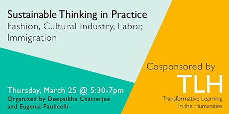 Sustainable Thinking in Practice: Fashion, Cultural Industry, Immigration tickets