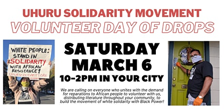 Boston Volunteer Day of Drops for Reparations tickets