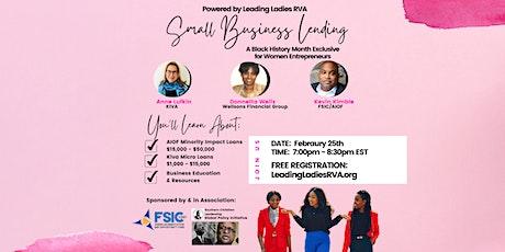 Small Business Lending Workshop for Women Entrepreneurs tickets