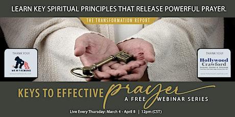 Keys to Effective Prayer tickets