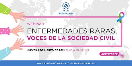 """Webinar """"Enfermedades Raras, Voces de la Sociedad Civil"""" entradas"""