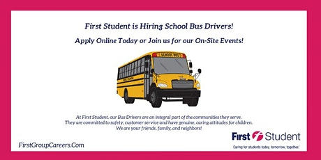 First Student is Now Hiring School Bus Drivers in Glen Ellyn, IL! tickets