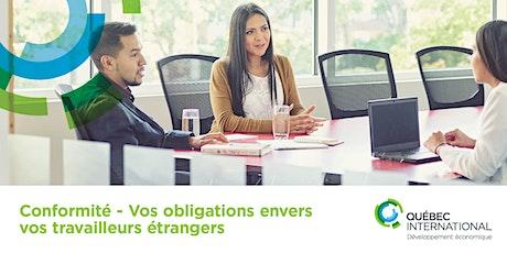 Conformité - Vos obligations envers vos travailleurs étrangers billets