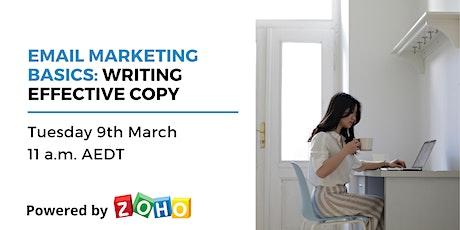 Educational webinar: Writing Effective Copy tickets