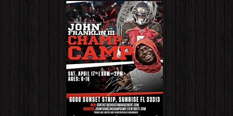 "John Franklin III ""Champ Camp"" tickets"