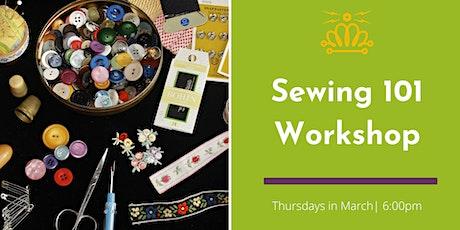 Sewing 101 Workshop tickets