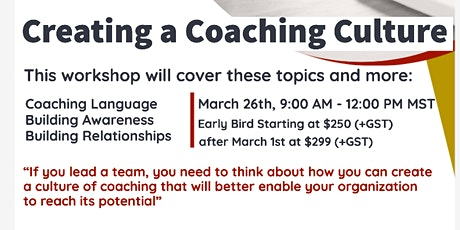 Creating a Coaching Culture Workshop tickets