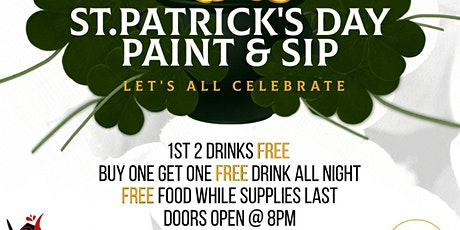 St. Patrick's Day Paint & Sip tickets