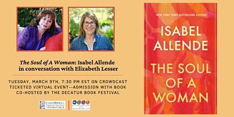 Isabel Allende Celebrates The Soul of a Woman with Elizabeth Lesser and DBF tickets
