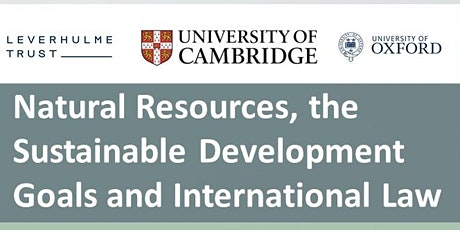 Natural Resources, the Sustainable Development Goals and International Law tickets