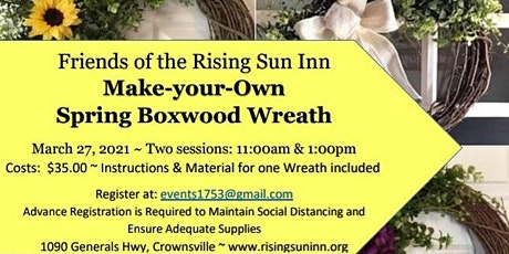 Make-Your-Own Spring Boxwood Wreath tickets