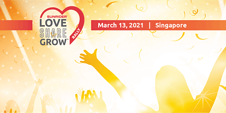 Love Share Grow Rally / The Sunrider Experience – LIVE ONLINE 13 March 2021 biglietti