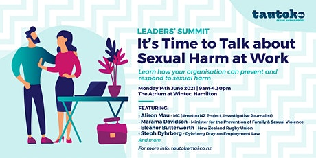 It's Time to Talk About Sexual Harm at Work:  Leaders Summit tickets
