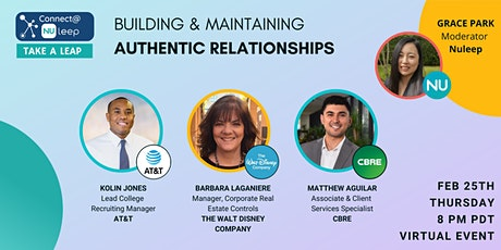 Connect@Nuleep Build & Maintain Authentic Relationships! tickets
