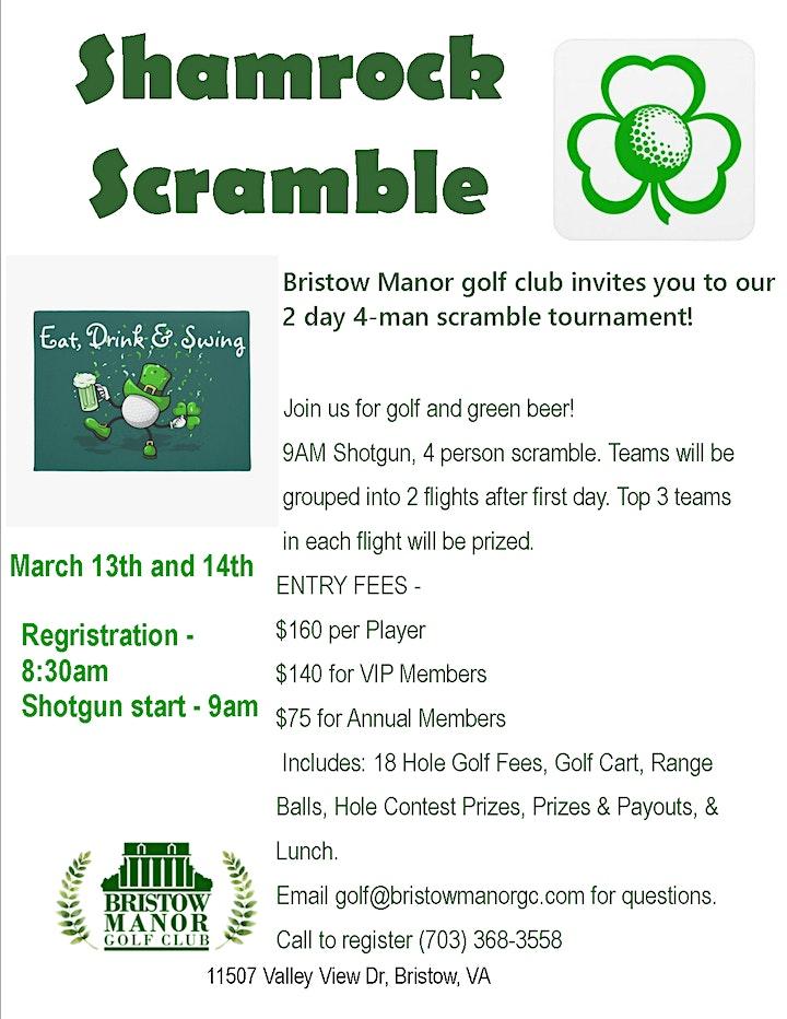 2021 Bristow Manor Golf Club - Shamrock Scramble Open image
