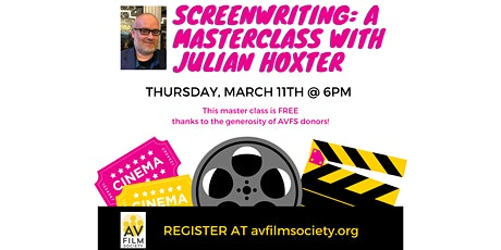 Screenwriting: A Masterclass with Julian Hoxter tickets