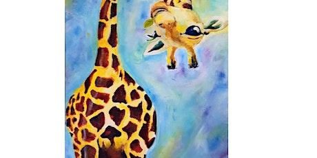 Upside Down Giraffe - Plucka's Art Studio (April 18 1.30pm) tickets