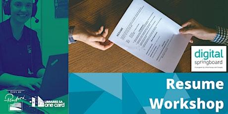 Career Workshop : Resume Session tickets