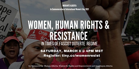 Women, Human Rights & Resistance tickets