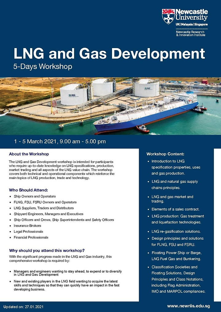 LNG and Gas Development workshop (5 days) image