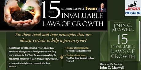 John Maxwell Mastermind Group - The 15 Invaluable Laws of Growth biglietti