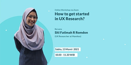 How to Get Started in UX Research? tickets