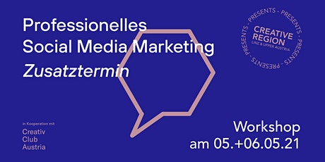 WORKSHOP: PROFESSIONELLES SOCIAL MEDIA MARKETING - Zusatztermin tickets