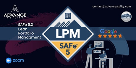 SAFe LPM (Online/Zoom) May 29-30, Sat-Sun, Singapore Time (SGT) tickets