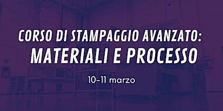 CORSO AVANZATO DI STAMPAGGIO A INIEZIONE: MATERIALI E PROCESSO biglietti