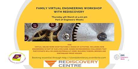Family Virtual Engineering workshop with Rediscovery - Ages 8+ tickets