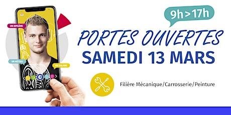 Portes ouvertes du CFA - Filière Mécanique/Carrosserie/Peinture billets
