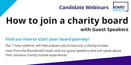 Webinar: Candidate Information Session - How to Join a Not-For-Profit Board tickets