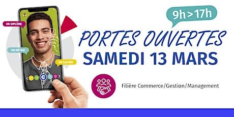 Portes ouvertes du CFA - Filière Commerce/Gestion/Management billets