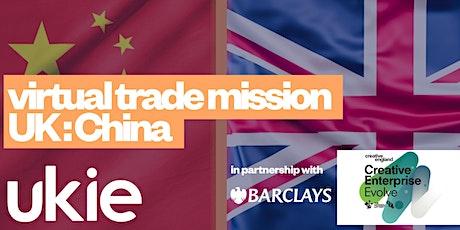 Virtual trade mission UK:China tickets