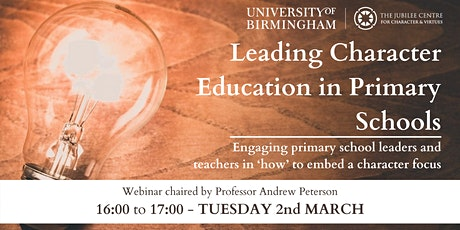 Leading Character Education in Primary Schools tickets