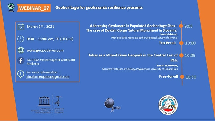Webinar_07: Geoheritage for Geohazard Resilience image