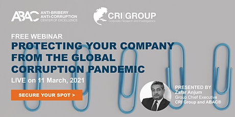 Protecting Your Company from the Global Corruption Pandemic tickets