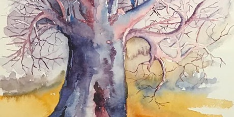 The Friday Gallery Watercolour painting live online class: Baobab Tree tickets